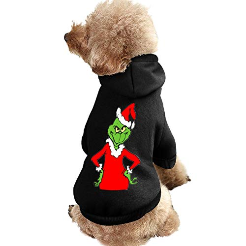CTWUVS ADPR How Grin-ch Stole Christmas Pet Clothes Dog Hoodies Puppy Pullover Cat Sweatshirts Hooded Shirts