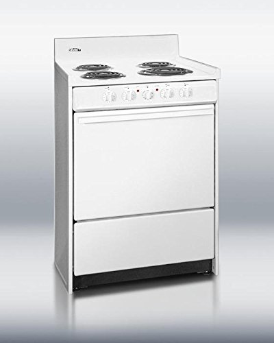 Summit WEM610 Kitchen Electric Cooking Range, White