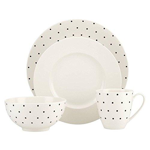 kate spade new york Larabee Dot Cream Stoneware 4-Piece Place Setting]()