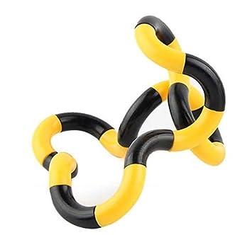 1 Amoy.B Juguete de Dedo de Juguete de Descompresi/ón de Cuerda Negra y Amarillo Retorcido Cuerda M/ágica