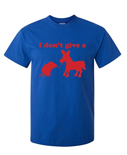 I Don't Give A Rats Ass Funny Offensive Gift Sarcastic T Shirt XL Royal