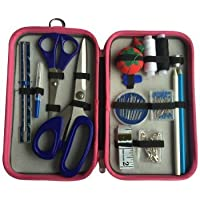 25-Piece Travel Size Sewing Kit in Pink