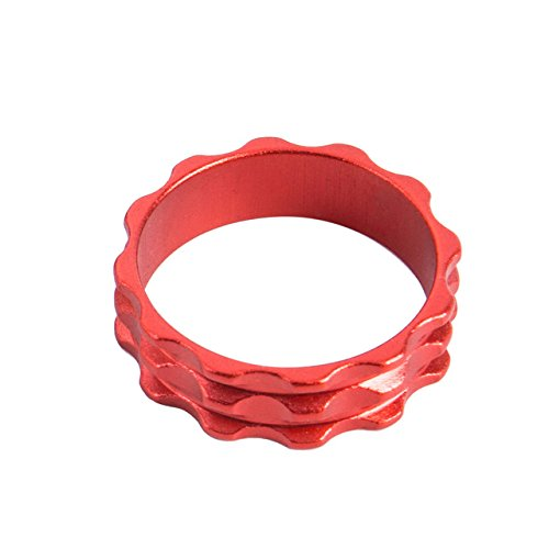 Ztto Bicycle Washer Spacers Gasket Fork Headset CNC Parts 10mm 5PCS(Red)