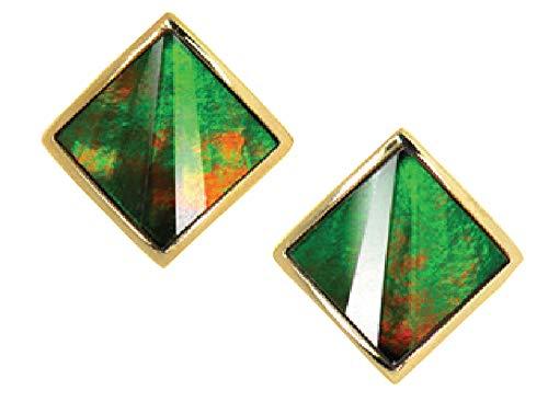 Korite Nola 14k Yellow Gold Ammolite Earrings ()