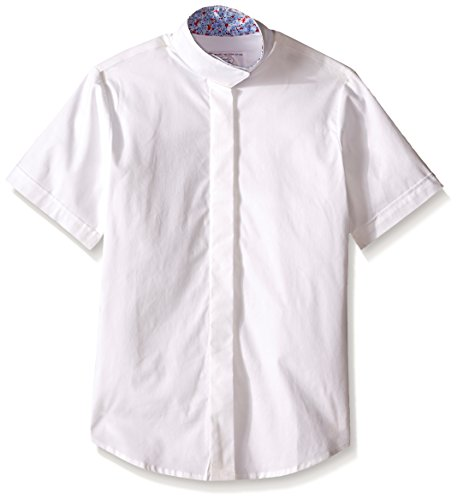 Devon-Aire Girls Nouvelle Stretch Short Sleeve Shirt, 10, White