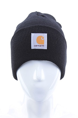 Winter Watch Cap (Carhartt Men's Acrylic Watch Hat,Black,One Size)