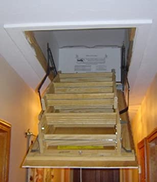 30x54 Attic Pull Down Stair Ladder Cover, R 50 Insulation   Weatherproofing  Window Insulation Kits   Amazon.com