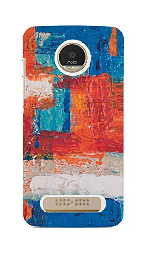 #CoolPanda Polycarbonate Water Color Wall Canvas Art Back Cover for Motorola Moto Z Play   Multi Coloured