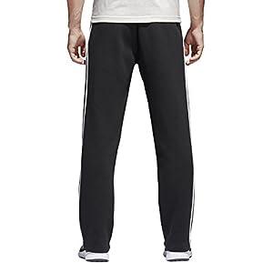 adidas Men's Essentials 3 Stripe Regular Fit Fleece Pants