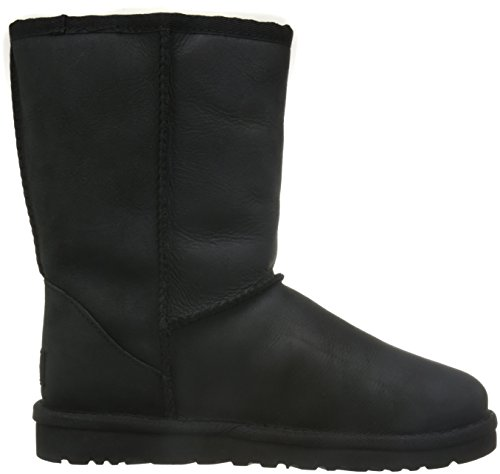Black UGG Botas Short Classic para Leather Mujer g4OTq