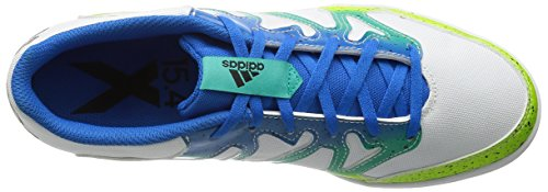 adidas Herren X 15.4 St Fußballschuhe, Talla Unica Verschiedene Farben (Weiß / Grün / Schwarz (Ftwbla / Seliso / Negbas))