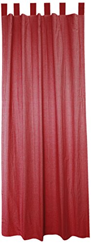 Curtain Panels Red Gingham (Tadpoles Tap Top 2 Piece Curtain Panels, Gingham/Red, 84