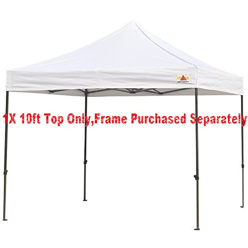 ABCCANOPY Deluxe Replacement Canopy top/roof 10x10 ft Ez Pop up Canopy Gazebo,NOT Include The Frame (White)