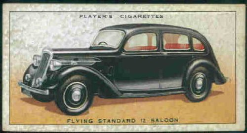 Flying Standard 12 Saloon 1936 Player Cigarettes Motor Cars #43 (VG)