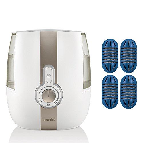HoMedics Cool Mist Ultrasonic Humidifier (1-Gallon) Bundle with HoMedics Ultrasonic Humidifier Demineralization Cartridges