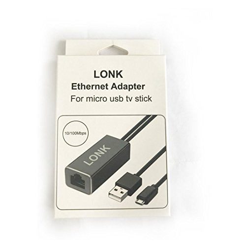 LONK Ethernet Adapter for Fire TV Stick GEN 2 (3FT), Amazon Fire TV GEN 3/Fire TV 2017, Chromecast Ultra/2/1/Audio, Fast RJ45 Ethernet 100mbps Network Adapter with Aluminum Shell USB Power Cable by LONK (Image #7)