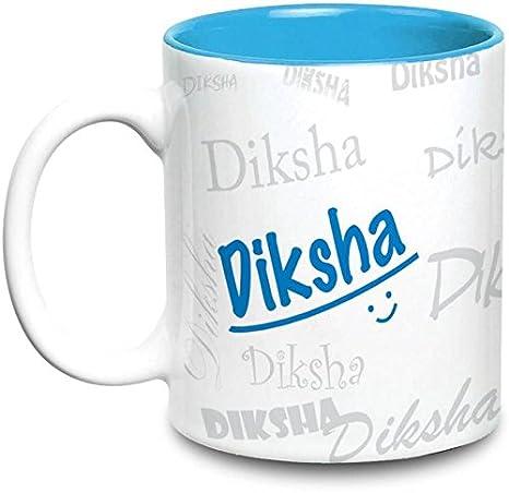 Buy Diksha Name Gift Ceramic Inside Blue Mug Gifts For Birthday