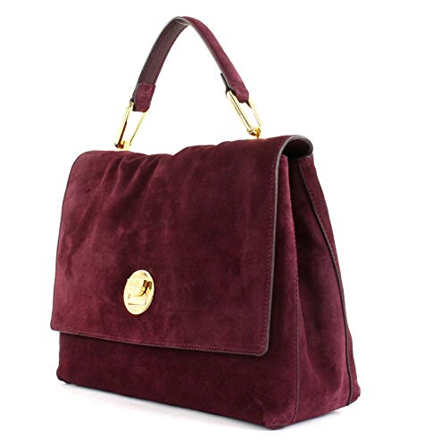 Mano Borsa A Pelle Scamosciata In Suede Coccinelle Rosso Liya Uxa4T