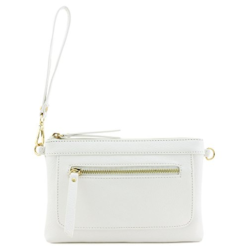 Multi-functional Wristlet Clutch and Crossbody Bag White by FashionPuzzle (Image #1)