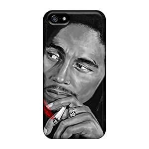 Protective Hard Phone Cover For Iphone 5/5s With Customized HD Bob Marley Image SherieHallborg