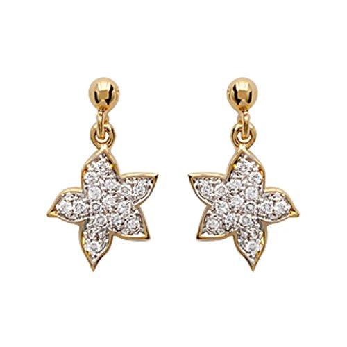 ISADY - Angela Gold - Boucles d'oreille - Plaqué or jaune 18K - Pendants - Oxyde de zirconium - étoiles