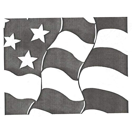 Rubber Stamp: Furling Flag Background -  Stamps Galore