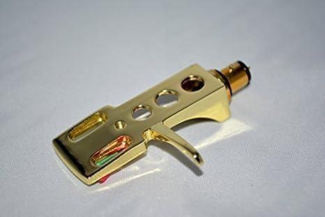 Chapado en oro Headshell soporte de cartucho con dorado ...