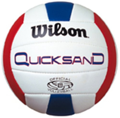 Wilson Quicksand H4890X Ballon de beach volley Blanc/rouge/bleu Taille 5 ballon de volley ballon de volley ball ballon de volleyball ballon de volley beach