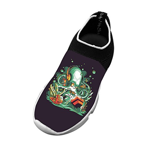New Funny Flywire Weaving Jogging Shoes 3D Custom Made With Octopus For Unisex Kids