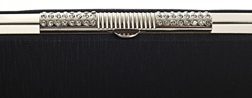 Shop Hard Diamante Big Shoulder Handbag Clasp Clutch Purse Case Black Long Bag Womens Evening Party 8wR5xrRqX