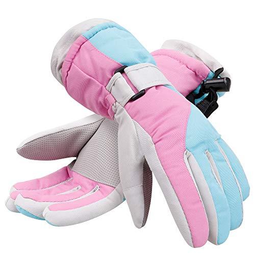 Jasmine Kids Boys & Girls Thinsulate Lined Waterproof Wind Resistant Winter Ski Gloves