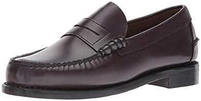 Sebago Mens Classic Moc Toe Penny Loafers Dress Shoes Cordo Leather, 5.5 D