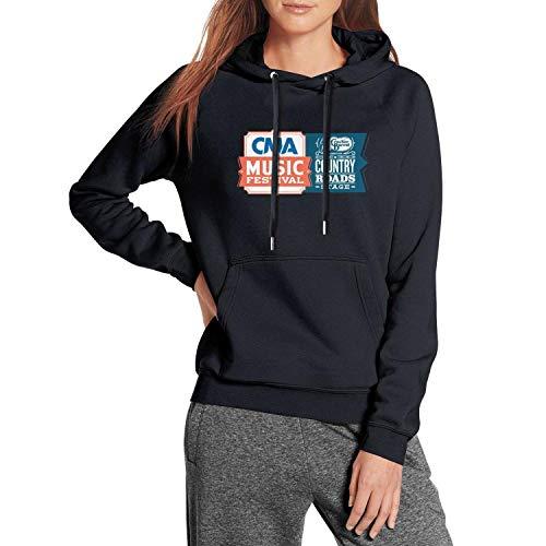 Topstankcc Womans Hoodies Cracker-Barrel-Country-CMA-Music-Festival-Logo-Navy-Blue Funny Heavy Blend Winter Long Sleeve Sweaters (Music Christmas Barrel Cracker)