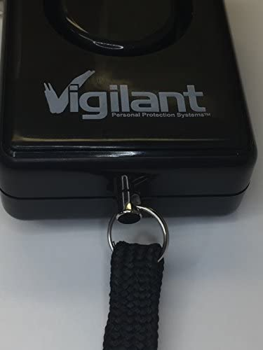 Vigilant 135dB Personal Alarm With Keychian Clip And Rip Cord Activation 2-Pack