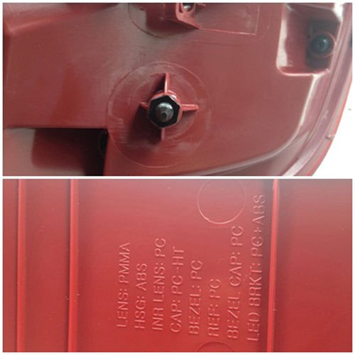 Kia Motors Genuine LED Rear Combination Tail Lamp Assembly L R 2-pc set For 2011 2012 Kia Picanto : All New Morning by Kia (Image #7)