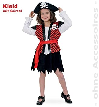 Piratin Louisa 128 Kleid Inkl Gurtel Kinder Fasching Amazon De