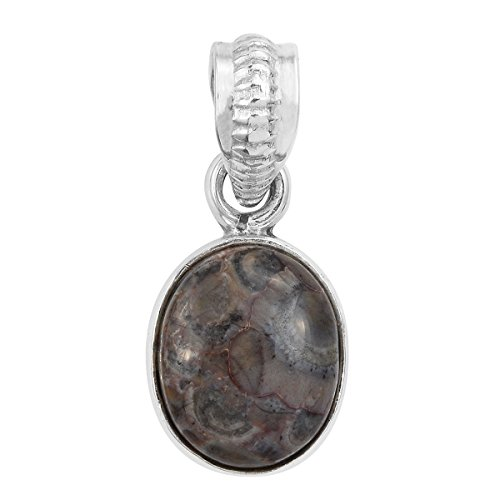 Artisan Crafted Rhyolite Jasper Sterling Silver Pendant Necklace For Women without (Artisan Crafted Necklace)