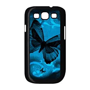 LZHCASE Diy Back Case Butterfly For Samsung Galaxy S3 i9300 [Pattern-1]