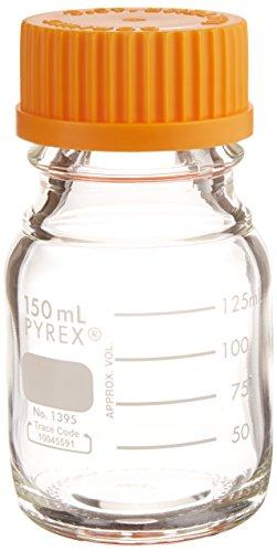 Corning Pyrex 1395-150 Media Storage Bottle with Screw Cap, Non-Sterile, 150mL Capacity (Case of - Sterile Bottles Non