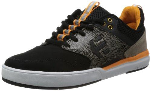 Etnies Men's Aventa Skate Shoe,Black/Orange,10 D US