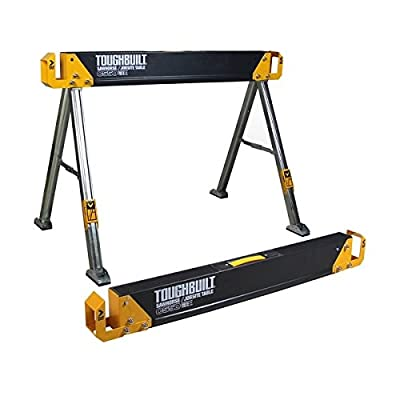 TOUGHBUILT C550 41.5-Inch Folding Sawhorse/Jobsite Table by TOUGHBUILT