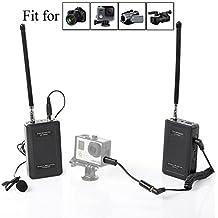 Saramonic SR-WM4C Camera Wireless Lavalier Microphone System for Canon 6D 600D 5D2 5D3 Nikon D800 Sony DV DSLR Camcorders GoPro Hero 4 3 3+