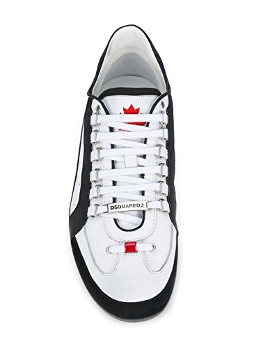 Dsquared2 Herre Snm043413060001m072 Weiss Leder Sneakers 7pBY6mg