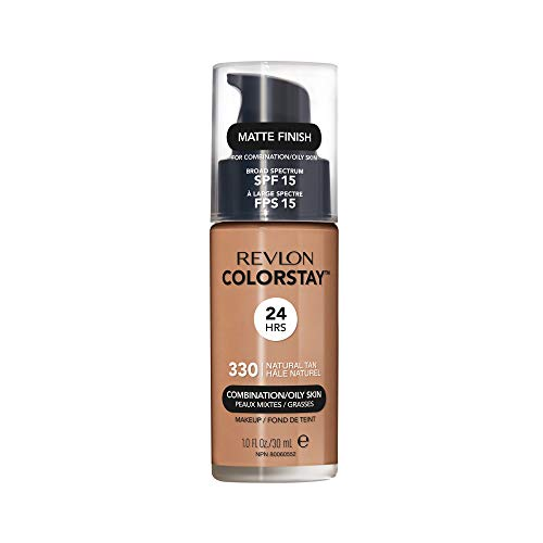 Revlon ColorStay Liquid Foundation For Combination/oily Skin, SPF 15 Natural Tan, 1 Fl Oz