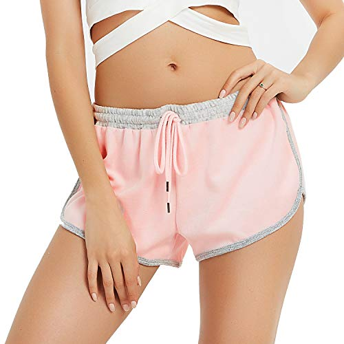 Loose Fit Girls Shorts - Women's Dolphin Running Workout Shorts Drawstring Waist Yoga Gym Athletic Sport Fitness Short Pink