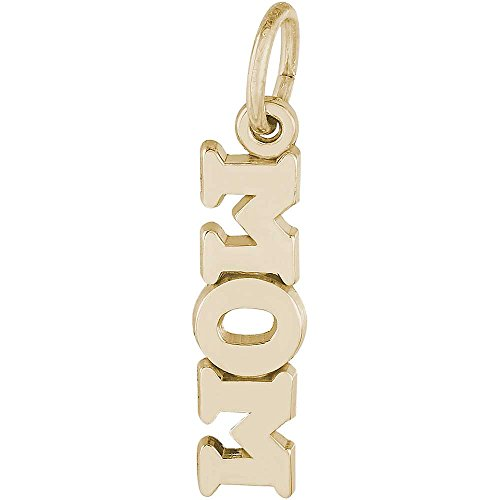 14k Mom Gold Yellow Charm (Rembrandt Charms Mom Charm, 14K Yellow Gold)