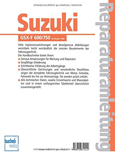 Suzuki Gsx F 600 750 Ab Baujahr 1988 Bücher