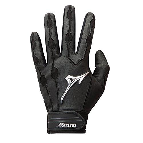 Mizuno Covert Batting Gloves, Black, Large - Mizuno Leather Softball Glove