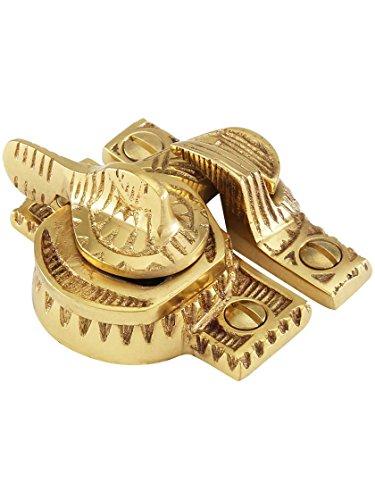 Sash Brass Antique (House of Antique Hardware R-09SE-135-PB Solid Brass Eastlake Style Sash Lock in Polished Brass)