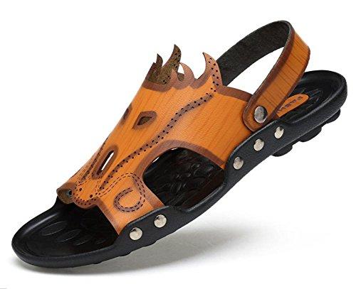 sandalias zapatillas 1 hombre recreativo zapatillas doble para nuevos uso 2017 súper de fibra hombre sandalias de uso verano zapatos de qXpwExI4
